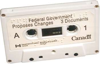 Audio cassette prepared and produced for the Government of Canada